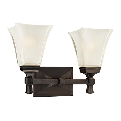 Hudson Valley Lighting Bathroom Light with White Glass in Old Bronze Finish 1172-OB