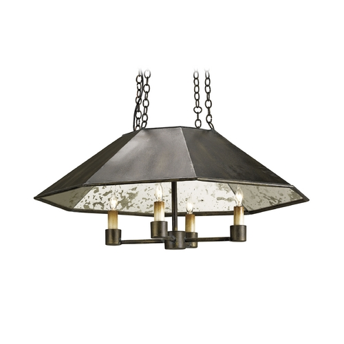 Currey and Company Lighting Modern Pendant Light in Bronze Verdigris Finish 9087