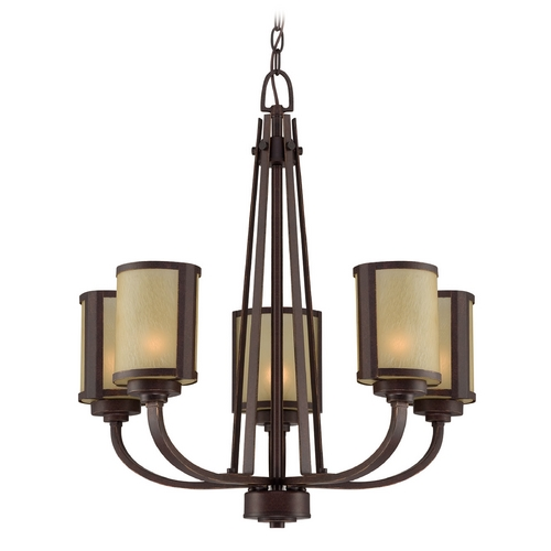 Lite Source Lighting Lite Source Lighting Zerlam Aged Bronze Chandelier LS-18475