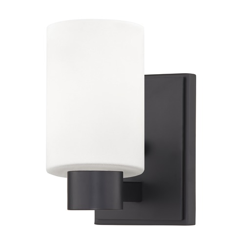 Design Classics Lighting Design Classics Vashon Matte Black Sconce 2101-07 GL1028C