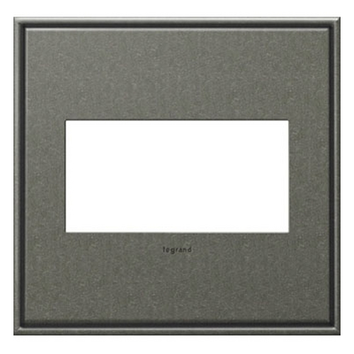 Legrand Adorne Legrand Adorne Brushed Pewter 2-Gang Switch Plate AWC2GBP4