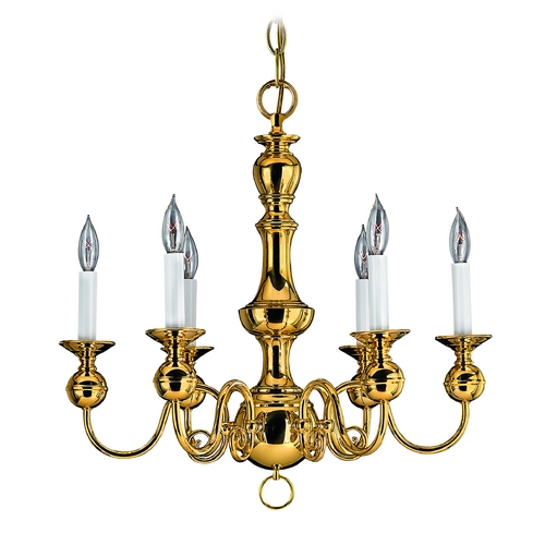 Hinkley Lighting Chandelier in Polished Brass Finish 5126PB
