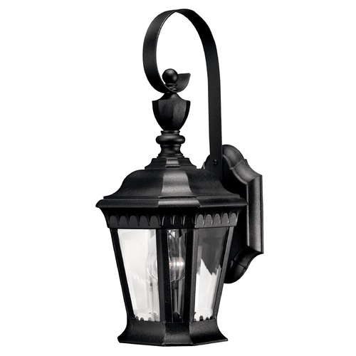 Hinkley Lighting Outdoor Wall Light with Clear Glass in Black Finish 1700BK