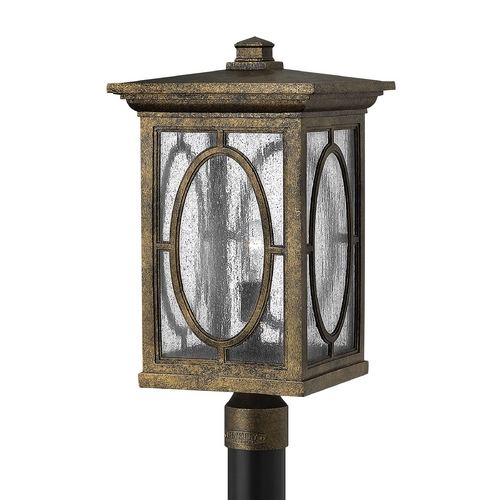 Hinkley Lighting Post Light with Clear Glass in Autumn Finish 1499AM