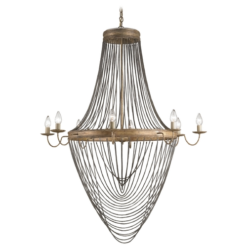 Currey and Company Lighting Currey and Company Lighting French Gold Leaf Chandelier 9412