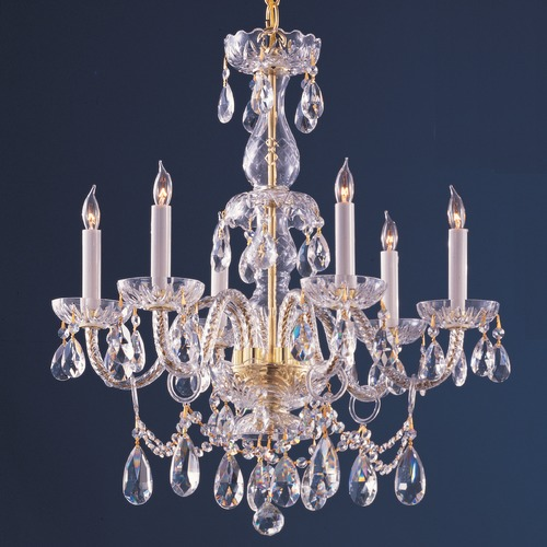 Crystorama Lighting Crystorama Lighting Traditional Crystal Polished Brass Chandelier 1126-PB-CL-MWP