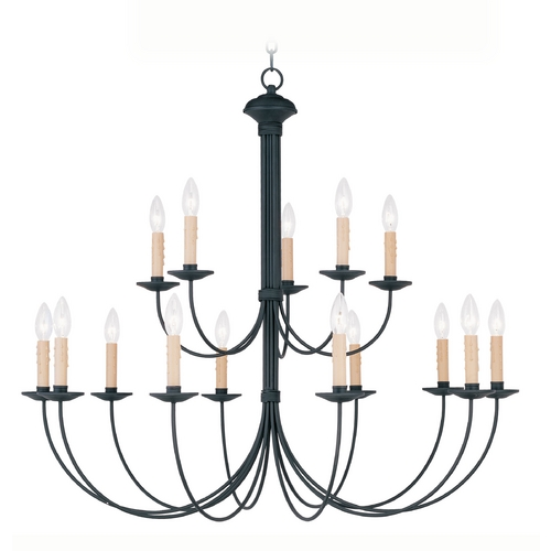 Livex Lighting Livex Lighting Heritage Black Chandelier 4460-04