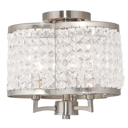 Livex Lighting Livex Lighting Grammercy Brushed Nickel Semi-Flushmount Light 50573-91