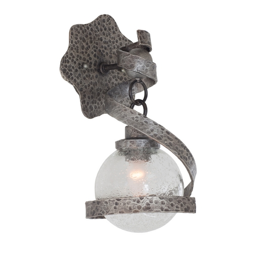 Kalco Lighting Kalco Lighting Odessa Hammered Silver Sconce 7271HS