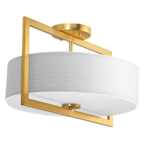 Progress Lighting Progress Lighting Harmony Natural Brass Semi-Flushmount Light P3530-137
