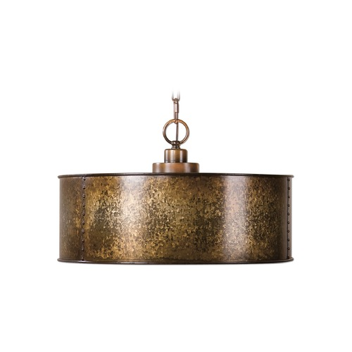 Uttermost Lighting Uttermost Wolcott 3 Light Golden Pendant 22066