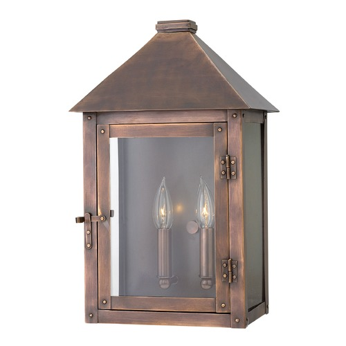 Hinkley Lighting Hinkley Lighting Thatcher Antique Copper Outdoor Wall Light 18204AP