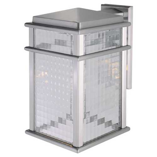 Feiss Lighting Outdoor Wall Light with Clear Glass in Brushed Aluminum Finish OL3402BRAL