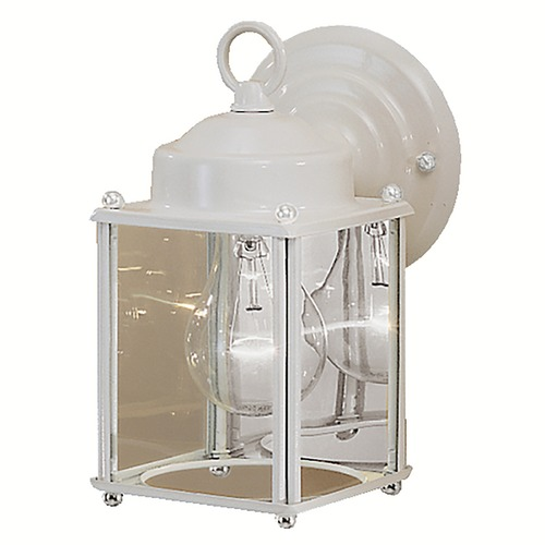 Kichler Lighting Kichler Outdoor Wall Light with Clear Glass in White Finish 9611WH