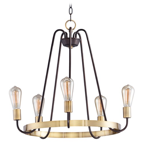 Maxim Lighting Maxim Lighting Haven Oil Rubbed Bronze / Antique Brass Chandelier 11735OIAB