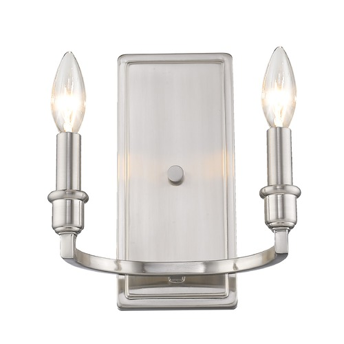 Golden Lighting Golden Lighting Ellyn Pewter Sconce 8209-2WPW