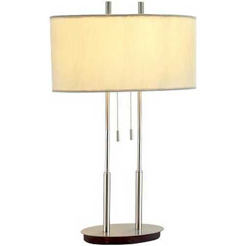 Adesso Home Lighting Modern Oval Table Lamp with Oval Lamp Shade 4015-22