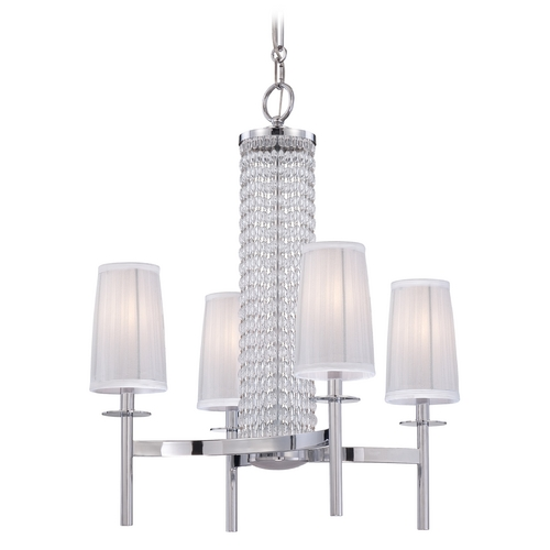Designers Fountain Lighting Chandelier with Silver Shades in Chrome Finish 83984-CH
