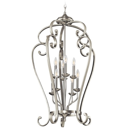 Kichler Lighting Kichler Pendant Light in Brushed Nickel Finish 43166NI