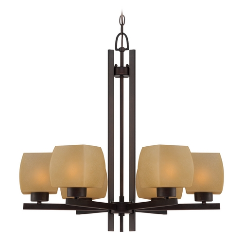 Lite Source Lighting Lite Source Lighting Solo Dark Bronze Chandelier LS-18486