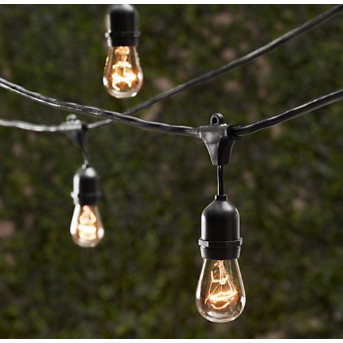 Table in a Bag Outdoor Decorative Patio String Lights - 48 FT Long - Includes Bulbs SL4815C