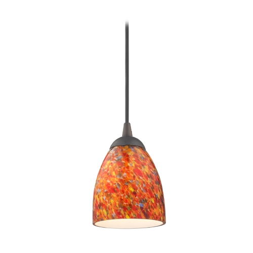 Design Classics Lighting Modern Mini-Pendant Light with Art Glass 582-220 GL1012MB