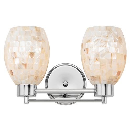 Design Classics Lighting Bathroom Light with Mosaic Glass in Chrome Finish 702-26 GL1034