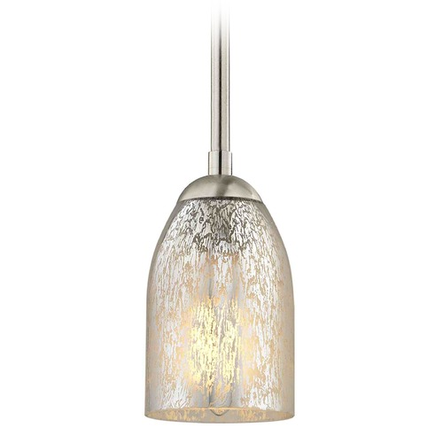 Design Classics Lighting Design Classics Gala Fuse Satin Nickel Mini-Pendant Light with Bowl / Dome Shade 581-09 GL1039D