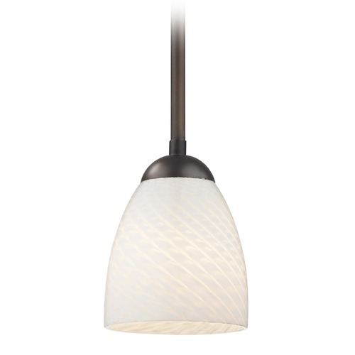 Design Classics Lighting Design Classics Gala Fuse Neuvelle Bronze LED Mini-Pendant Light with Bell Shade 681-220 GL1020MB