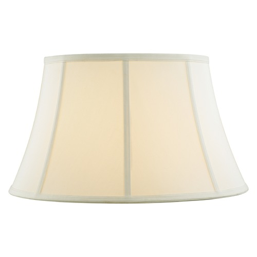 Design Classics Lighting Off White Bell Fabric Lamp Shade with Piping and Spider Assembly SH9696