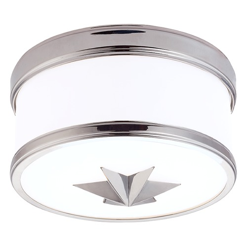 Hudson Valley Lighting Seneca 1 Light Flushmount Light Drum Shade - Polished Chrome 1109-PC