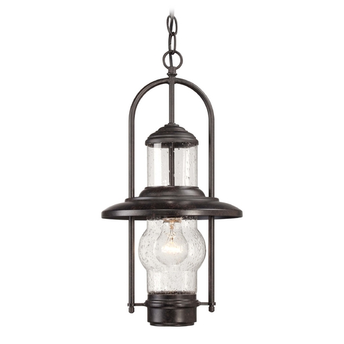 Minka Lavery Seeded Glass Outdoor Hanging Light Bronze Minka Lavery 72164-179