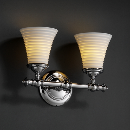 Justice Design Group Justice Design Group Limoges Collection Bathroom Light POR-8522-20-SAWT-CROM