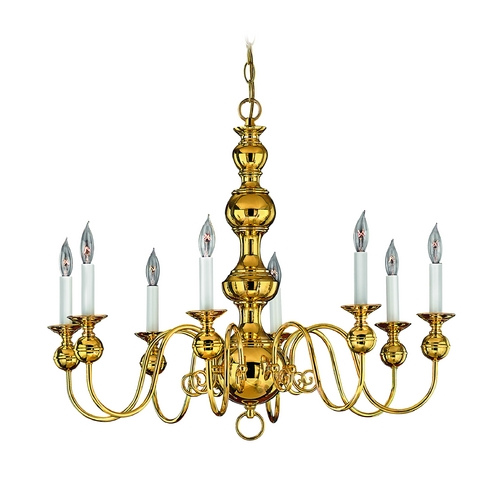 Hinkley Lighting Chandelier in Polished Brass Finish 5128PB