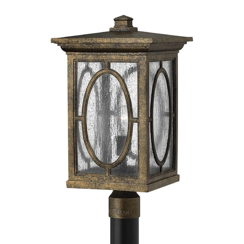Hinkley Lighting Post Light with Clear Glass in Autumn Finish 1499AM-GU24