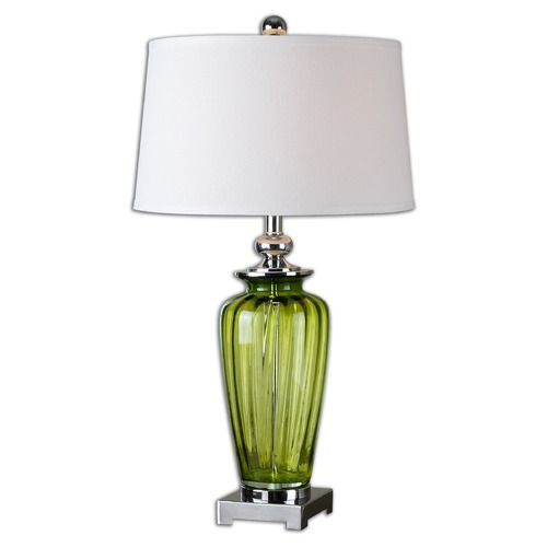 Uttermost Lighting Uttermost Amedeo Green Glass Table Lamp 26593