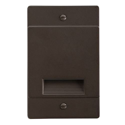 Kichler Lighting Kichler Lighting Step and Hall Light Architectural Bronze LED Recessed Step Light 12668AZ
