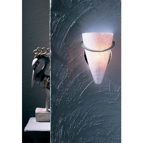 Holtkoetter Lighting Holtkoetter Modern Sconce Wall Light with White Glass in Satin Nickel Finish 2977 SN SCH
