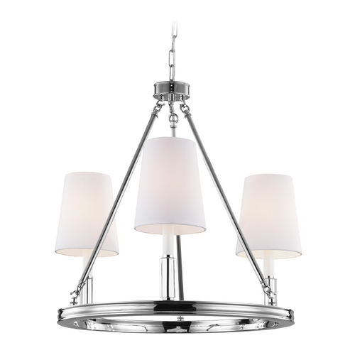 Feiss Lighting Feiss Lighting Lismore Polished Nickel Chandelier F2921/3PN