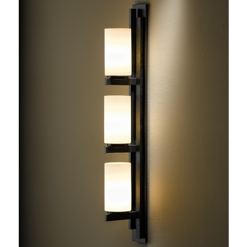 Hubbardton Forge Lighting Ondrian Dark Smoke Bathroom Light - Vertical Mounting Only 206309-SKT-LFT-07-GG0168