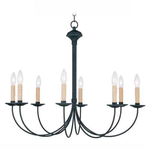 Livex Lighting Livex Lighting Heritage Black Chandelier 4457-04