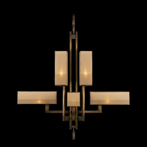 Fine Art Lamps Fine Art Lamps Perspectives Patinated Golden Bronze Chandelier 734240ST
