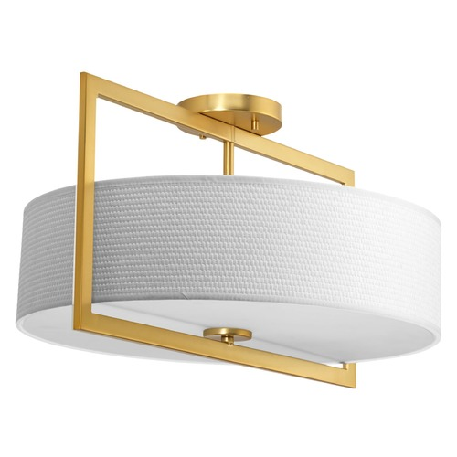 Progress Lighting Progress Lighting Harmony Natural Brass Semi-Flushmount Light P3531-137