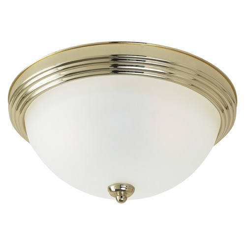 Sea Gull Lighting Sea Gull Lighting Ceiling Flush Mount Polished Brass LED Flushmount Light 7716591S-02
