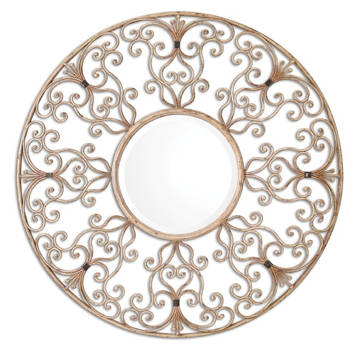 Uttermost Lighting Uttermost Santena Round Metal Mirror 08133