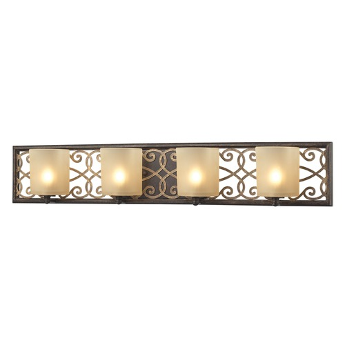 Elk Lighting Elk Lighting Santa Monica Weathered Bronze/gold Highlights Bathroom Light 31439/4