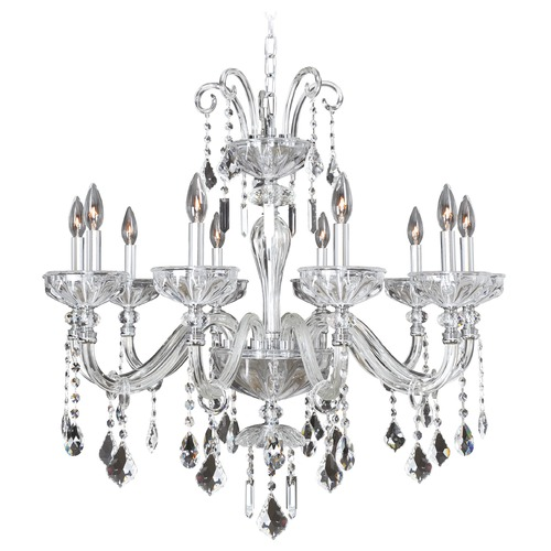 Allegri Lighting Allegri Clovio 10-Light Crystal Chandelier in Chrome 026052-010-FR001