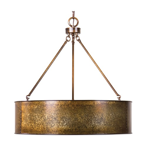 Uttermost Lighting Uttermost Wolcott 5 Light Golden Pendant 22067