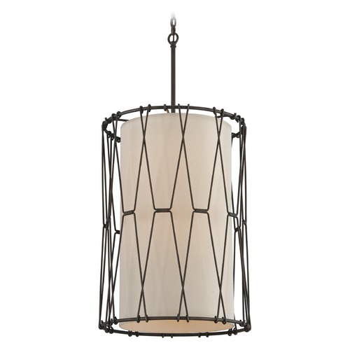 Troy Lighting Troy Lighting Buxton Vintage Bronze Pendant Light with Cylindrical Shade F4465