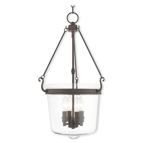 Livex Lighting Livex Lighting Rockford Bronze Pendant Light with Bowl / Dome Shade 50486-07